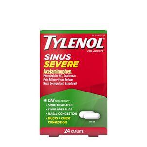 Tylenol Sinus Severe Daytime Caplet, 24 ct