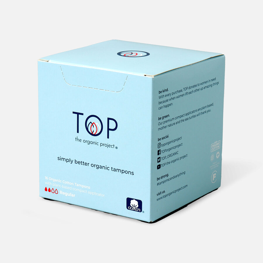 TOP Organic Cotton Plant Based Compact Applicator Tampon, , large image number 2