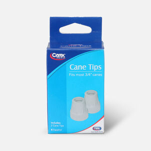 Carex Cane Tip 3/4 Gray Pack of 2