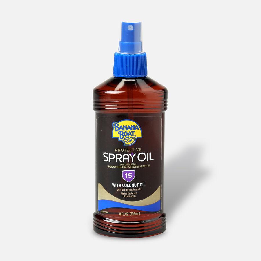 Banana Boat Tanning Oil, Protective, SPF 15 8 fl oz, , large image number 0