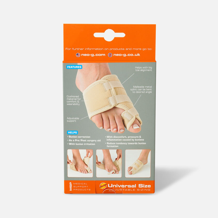 Neo G Bunion Correction System, Hallux Valgus Soft Support, One Size, Left, , large image number 1