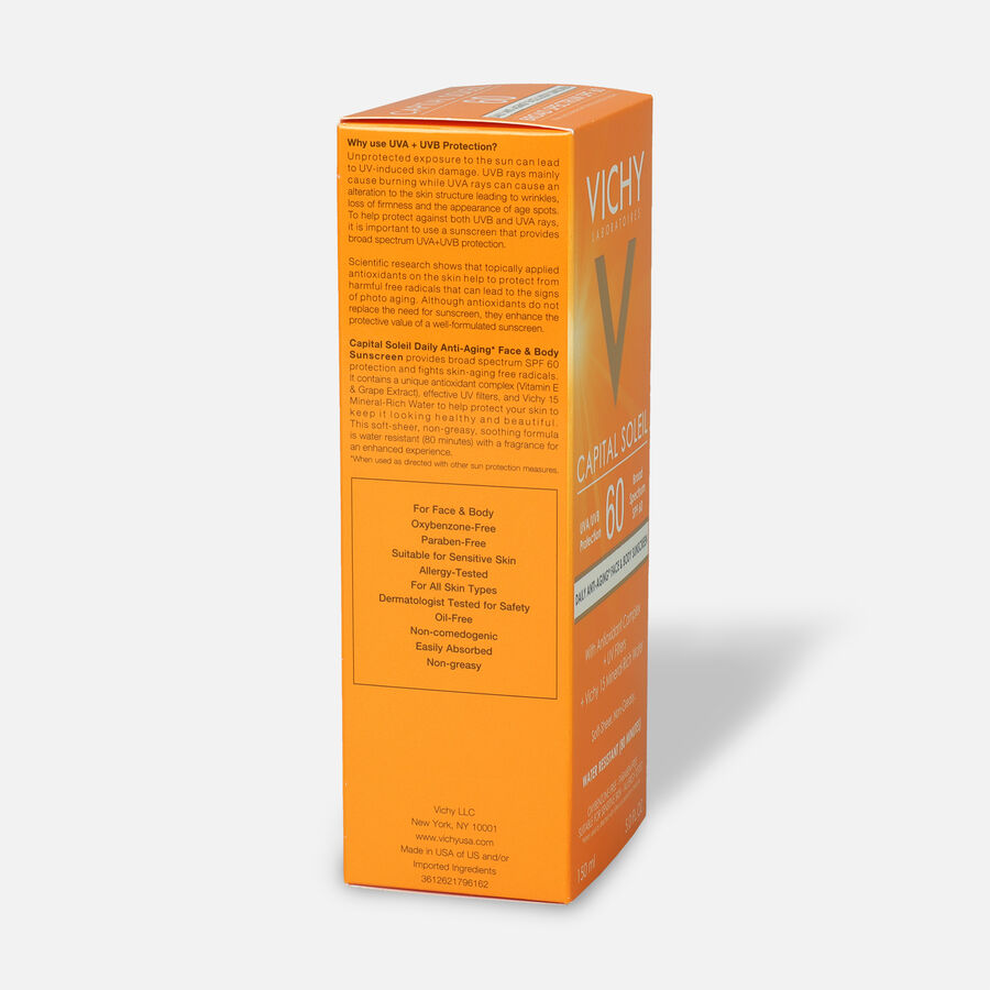 Vichy Idéal Capital Soleil SPF 60 Ultra-Light Body and Face Sunscreen with Antioxidants, 5.0 Fl. Oz., , large image number 2