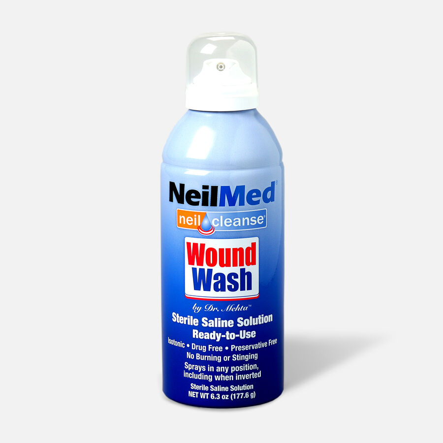 NeilCleanse Wound Wash Saline Spray 6oz, , large image number 0