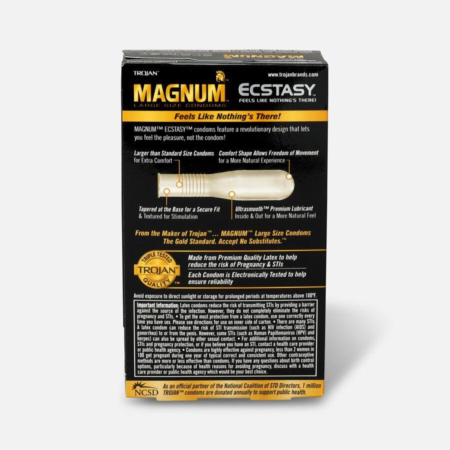 Trojan Magnum Ecstasy, Premium Latex Condoms, 10 ea, , large image number 1