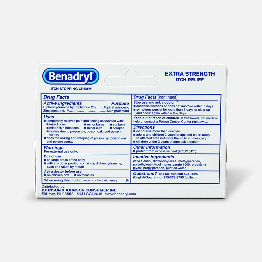 Benadryl Itch Stopping Cream, Extra Strength, 1 oz, , large image number 1
