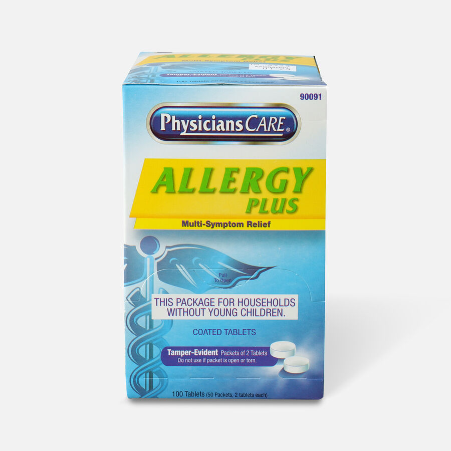 PhysiciansCare Allergy Plus, 50 x 2/Box, , large image number 0