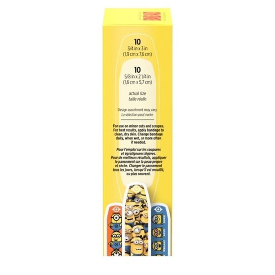 Band-Aid Adhesive  Assorted Bandages, Minions, 20 ct., , large image number 1