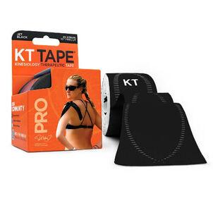 KT TAPE PRO, Pre-cut, 20 Strip, Synthetic, Jet Black