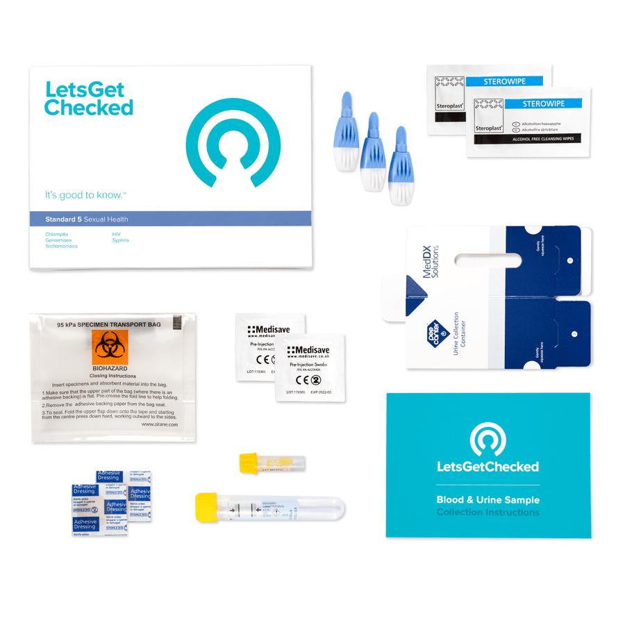 LetsGetChecked Standard 5 at Home STD Test, , large image number 2