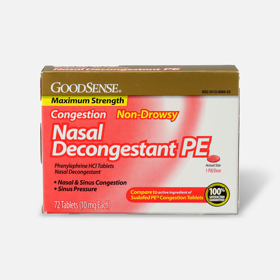 GoodSense® Nasal Decongestant PE 10 mg Non Drowsy Tablets, , large image number 3