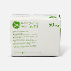 GE333 Blood Glucose Test Strips, 50 CT