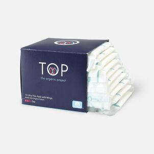 TOP Organic Cotton Ultra Thin Period Pads with Wings