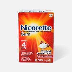 Nicorette Gum Cinnamon, 4mg, 100 ct