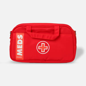 AllerMates Ruby Red Meds Insulated Medicine Bag Case for Allergy & Asthma Meds