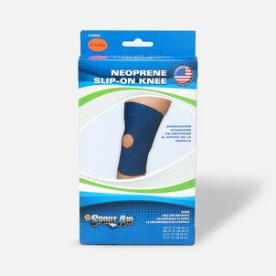 Sportaid Neoprene Slip-On Knee Brace Open Patella, Blue