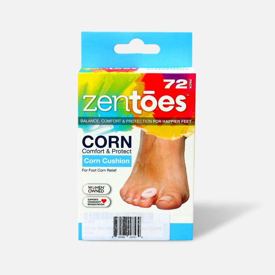 ZenToes Corn Cushions - 72 Pack, , large image number 0