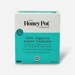 The Honey Pot Organic Tampons, 18ct