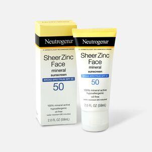 NEUTROGENA SHEER ZINC™ Face Dry-Touch Sunscreen Broad Spectrum SPF 50, 2 Fl. Oz.