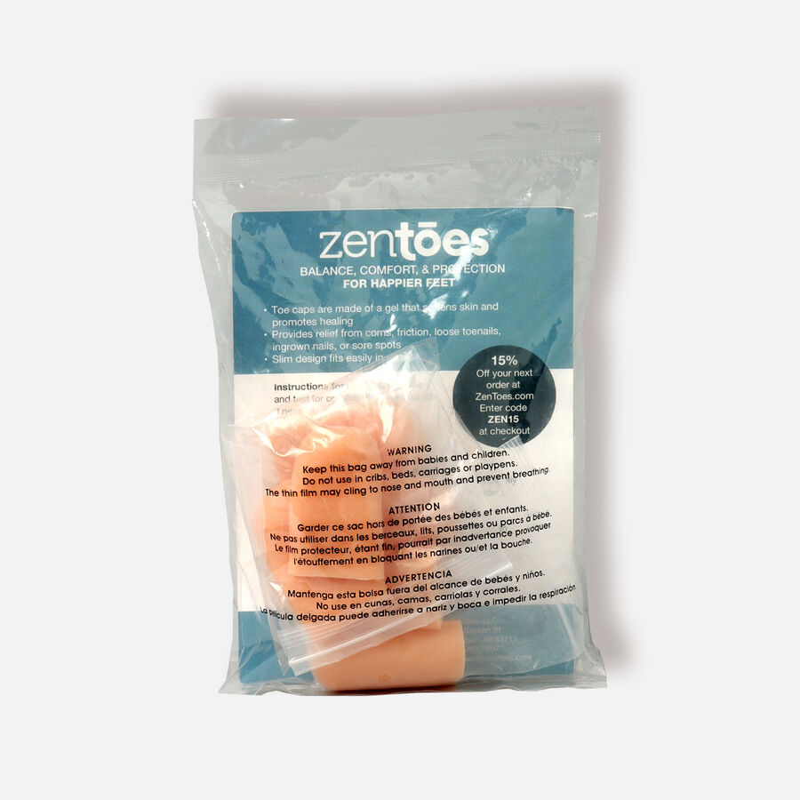 ZenToes Large Gel Toe Cap and Protector - 6 Pack, , large image number 1