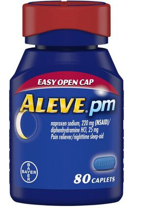 Aleve PM Caplets, Soft Grip Cap, 80ct