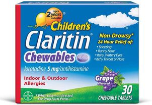 Claritin Children's Allergy Chewables, Grape Flavor, 30 Count