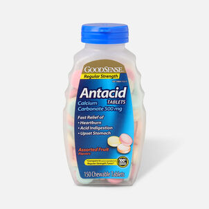 GoodSense® Regular Strength Calcium Antacid Chewable Tablets, Asst Fruit, 150 ct