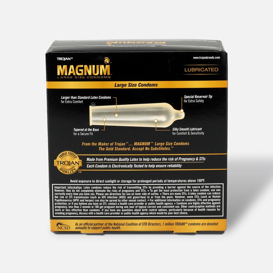 Trojan Magnum Lubricated Latex Condoms, Large Size, 36 ea, , large image number 1