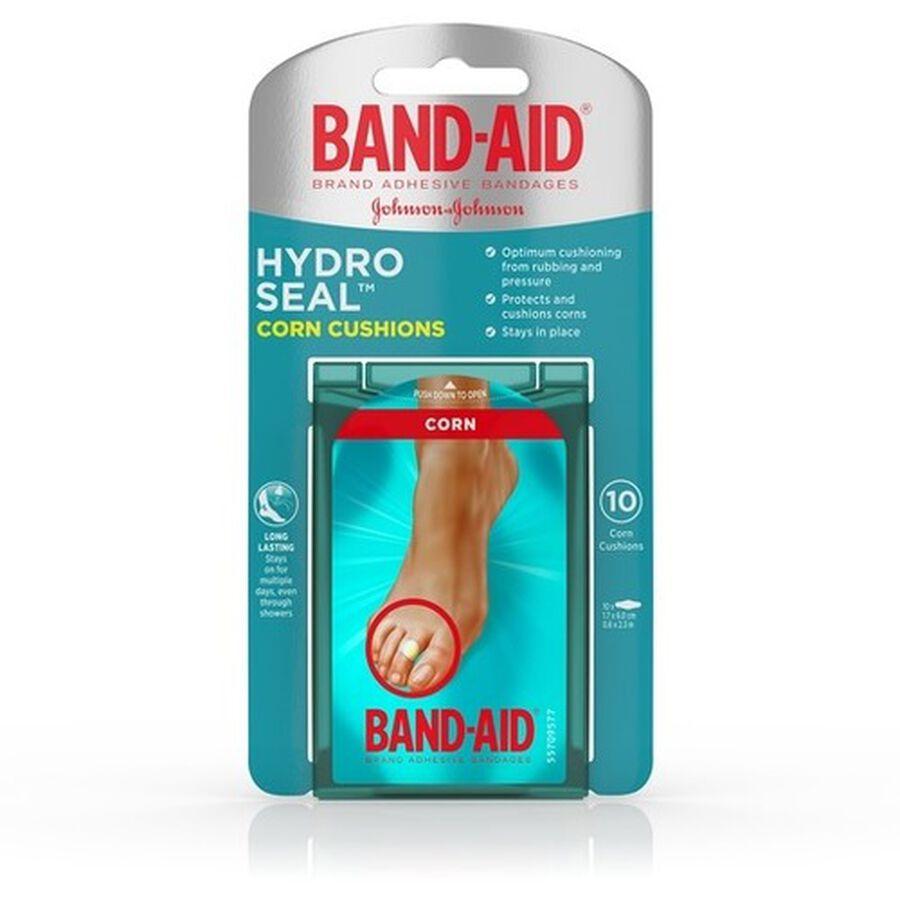 Band-Aid Hydro Seal Corn Cushion Bandages, Waterproof Corn Pads, Medium, 10 ct, , large image number 0