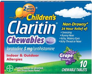 Claritin Children's Allergy Chewables, Grape Flavor, 10 Count