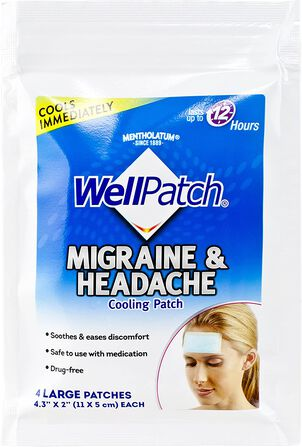 WellPatch Migraine & Headache Multi-Count Pouch, 4 ct