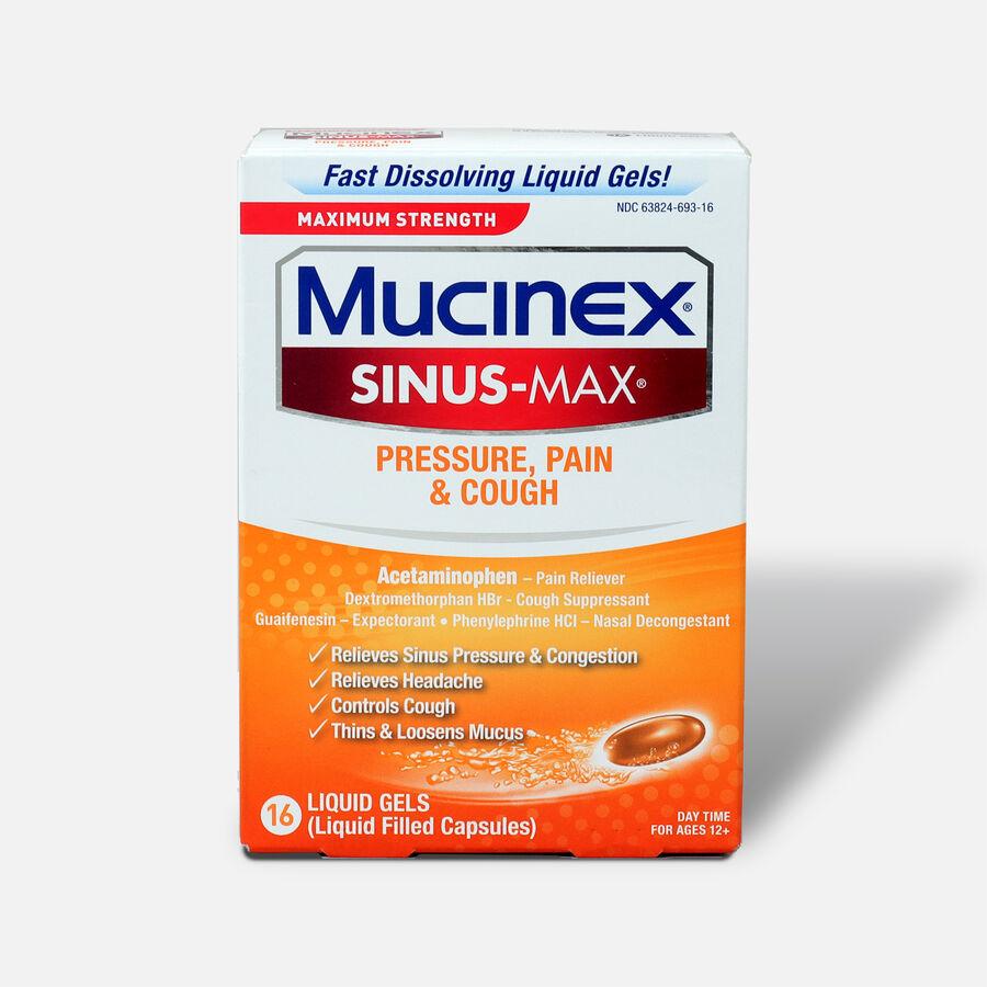Mucinex Sinus-Max Liquid Gels Pressure, Pain and Cough, 16 ct, , large image number 0