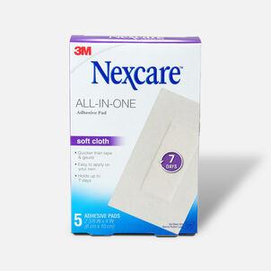 """Nexcare Soft Cloth Premium Adhesive Pad 2 3/8"""" x 4"""" - 5ct"""