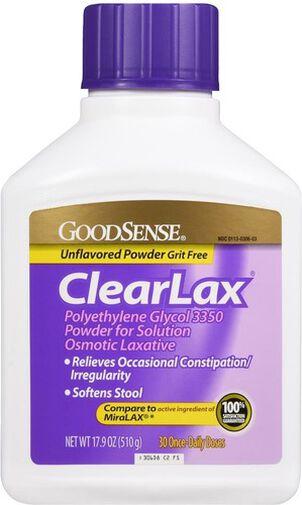 GoodSense® Clear Lax Polyethlene Glycol 3350 17g, 17.9 oz