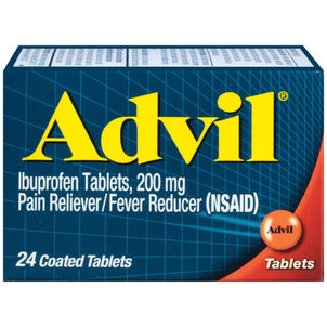 Advil Pain Reliever and Fever Reducer Coated Tablets, 200mg, 24 ct