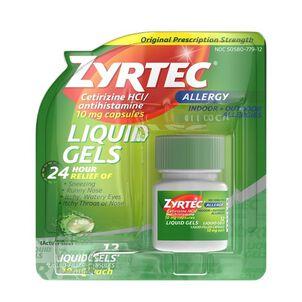 Zyrtec Allergy Liquid Caps, 12 ct