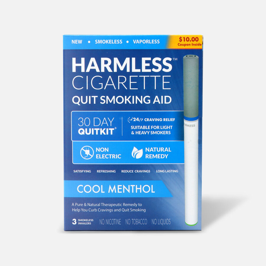 Harmless Cigarette Quit Smoking Aid, 30 Day Quit Kit, Cool Menthol, , large image number 0