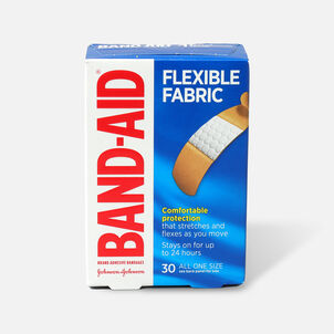 Band-Aid Flexible Fabric Adhesive Bandages 3/4 in Wide, 30 ea