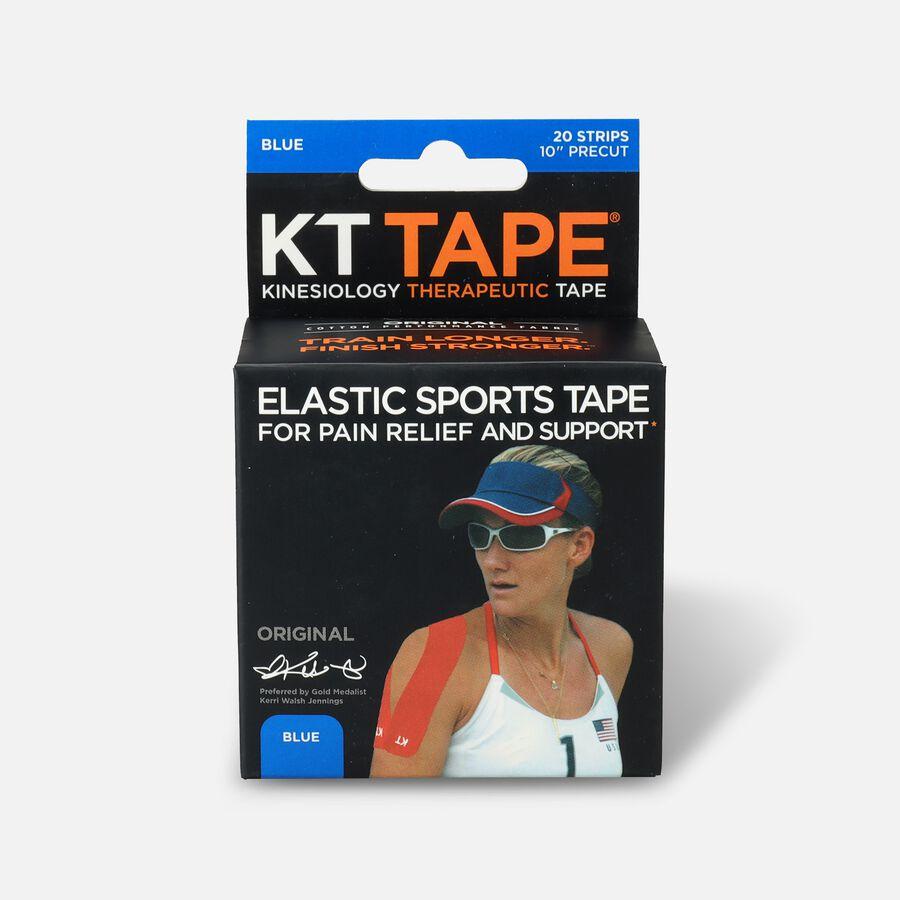 KT TAPE Original, Pre-cut, 20 Strip, Cotton, Blue, Blue, large image number 0