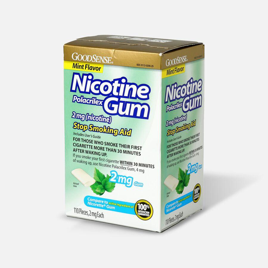 GoodSense® Nicotine Polacrilex Gum, 2 mg (nicotine), Non-Coated, 110 ct, , large image number 2