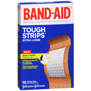 Band-Aid Tough-Strips, Extra Large, 10ct