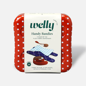 Welly Handy Bandies Assorted Toe & Finger Flex Fabric Bandages - 24ct