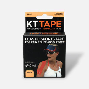 KT TAPE Original, Pre-cut, 20 Strip, Cotton, Beige