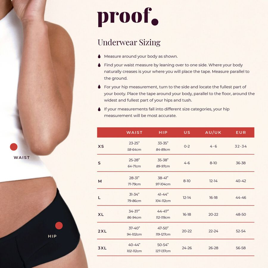 Proof® Leak & Period Underwear - Hipster (5 tampons / 10 tsps), , large image number 6