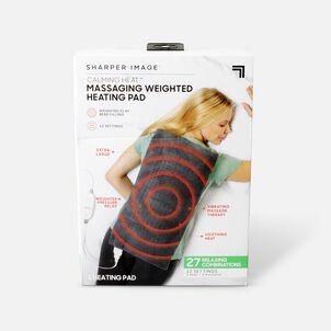 "Sharper Image® Calming Heat Massaging Weighted Heating Pad, 12"" x 24"", 4 lbs"