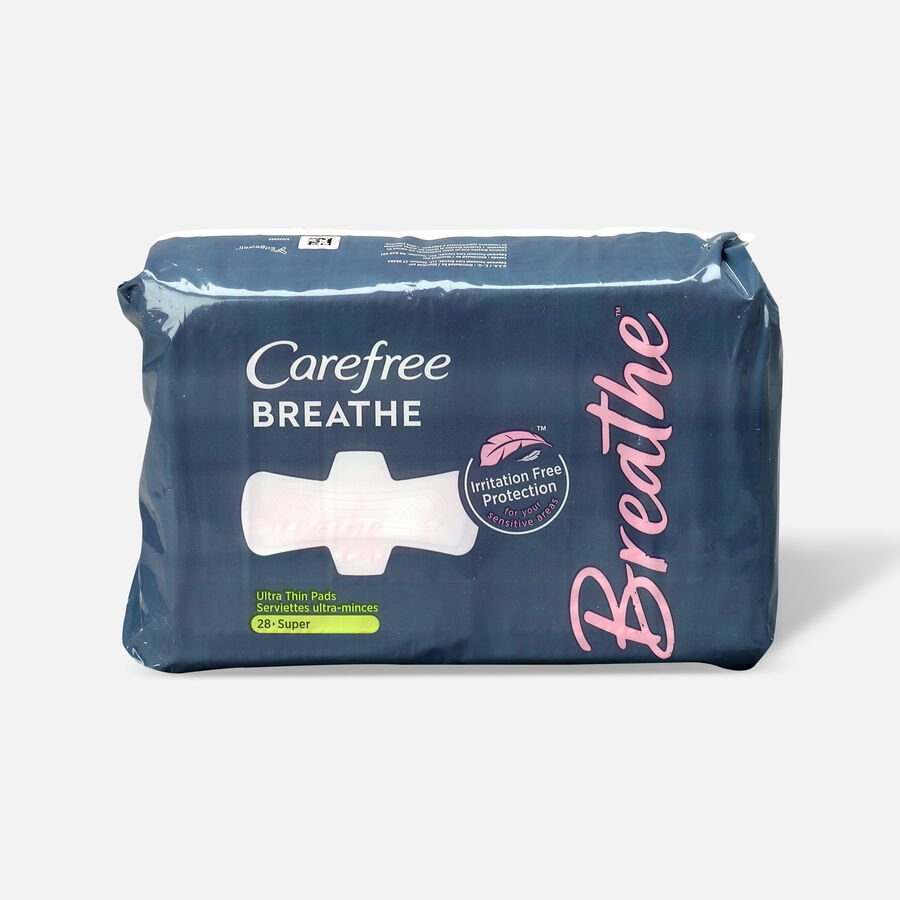 Carefree Breathe Ultra Thin Super Pads with Wings, 28ct, , large image number 0