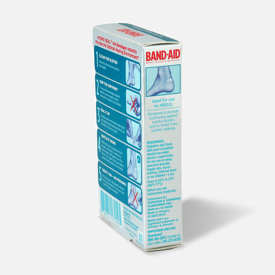 Band-Aid Hydro Seal Adhesive Bandages for Heel Blisters, 6 Count, , large image number 4