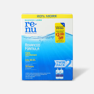 Renu Advanced Formula Multi-Purpose Contact Lens Solution, 12 oz. (Twin Pack)