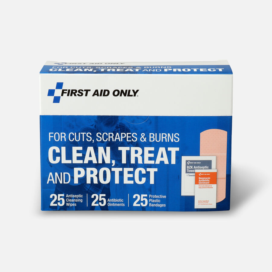 First Aid Only Clean, Treat and Protect For Cuts, Scrapes & Burns Kit, , large image number 0