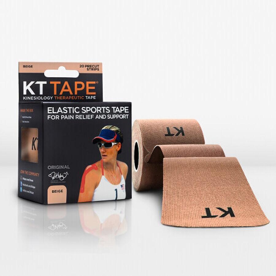 KT TAPE Original, Pre-cut, 20 Strip, Cotton, Beige, Beige, large image number 2