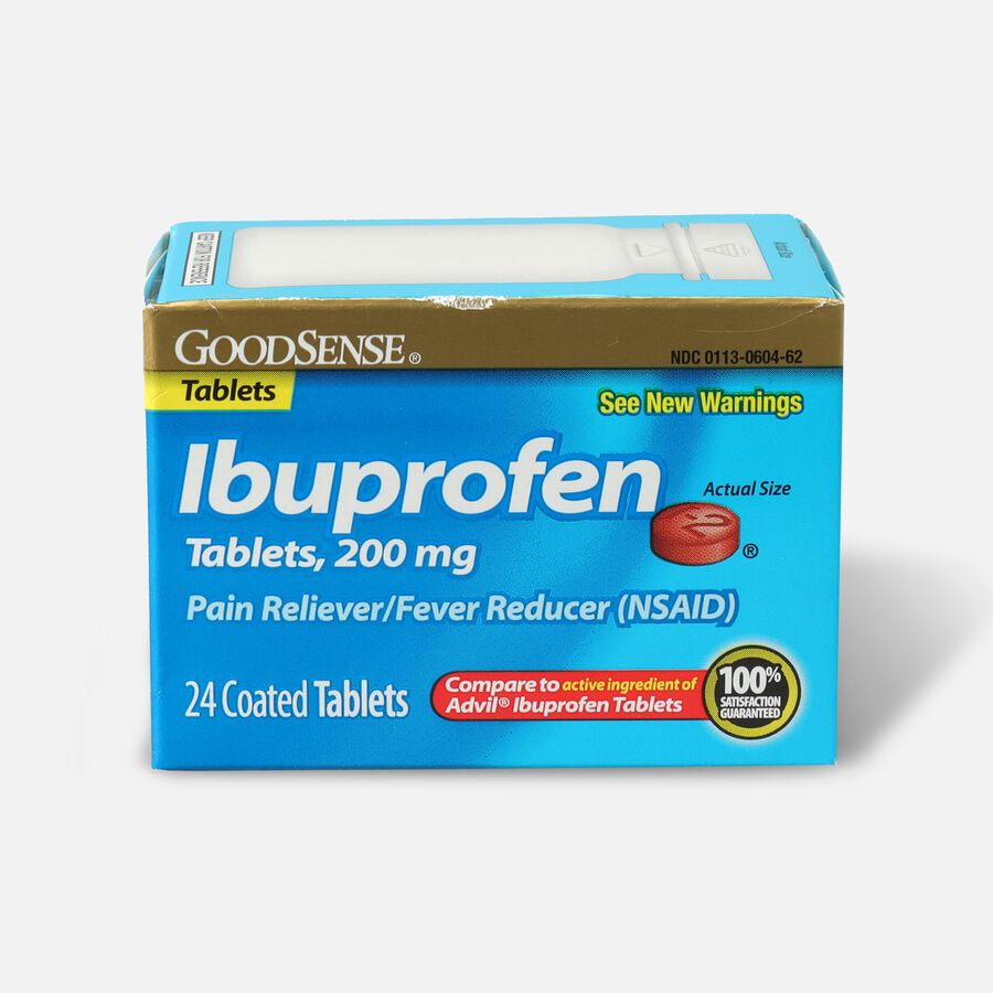 GoodSense® Ibuprofen Coated Tablets 200 mg, Pain Reliever & Fever Reducer, , large image number 0